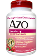 AZO Cranberry Supplement for UTI