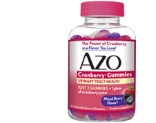 AZO Cranberry Gummies for Urinary Tract Infection